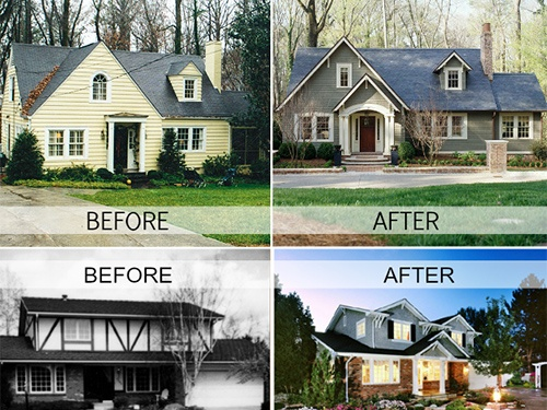 house exteriors before and after