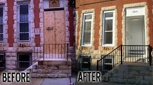 town house before and after